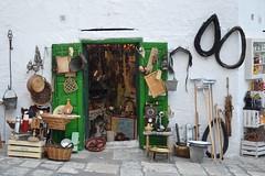 al n. 16 (Irene Grassi (sun sand & sea)) Tags: botteghe negozi negozio shop mercato market ostuni italia italy puglia antichit antiquariato verde civiltcontadina attrezzi porte facciate