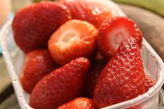 Strawberry breakfast (blondinrikard) Tags: red food göteborg spring berries gothenburg strawberries fresh delicious bär vår 2015 jordgubbar