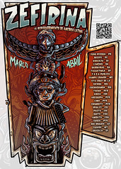 Poster Tur Zefirina Bomba 2015 (Kin Noise Trampa Studio E-mail: trampastudio@hotma) Tags: chile peru inca brasil poster colombia recife nordeste equador bolvia ilustrador lampio sanfona carranca zefirinabomba kinnoise