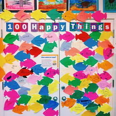 100 happy things (idontkaren) Tags: fish art public kids children happy idea book kid display library room decoration creative picture happiness newyear childrens 100 ideas picturebook iphone amyschwartz onehundred vsco 100thingsthatmakemehappy