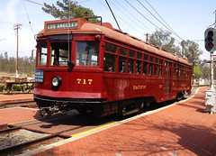 OERM Pacific Electric Red Car #717 (hupspring) Tags: train trolley southerncalifornia lightrail redcar passengertrain perris oerm orangeempirerailwaymuseum pacificelectric electricrailway hollywoodcar redcartrolley redcar717 pacificelectric717 ironhorsefamilysteampunkcarnivale