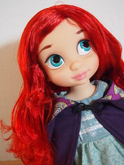 Little Purple Riding Hood (sh0pi) Tags: red ariel doll purple little disney riding hood mermaid disneystore puppe arielle kleine animators rotkppchen meerjungfrau