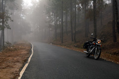 Serenity. (Chingrimach) Tags: mountains bike nikon motorcycle himalaya enfield bullet500 uttarakhand cramster munsiyari panchuli chaukori d7100 nikon35mm18