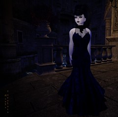 Ember's Venitian Adventure (MoekoTatekana) Tags: new venice urban grave fashion night vintage dark photography cityscape dress darkness mesh vampire curves gothic goth victorian formal sl fantasy secondlife u gown desolate modelling limitededition exclusive alternative darkenss moeko ploom vampirechronicles againstthemainstream ploomhair riggedmesh moekotatekana {moeko}