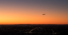 While Brisbane is asleep (noldski2) Tags: sky water plane sunrise river airport brisbane 18 45mm epl7