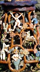 coastal totem pole 02 (byronv2) Tags: eastneukoffife lowerlargo fife coast coastal rnbforth rnbfirthofforth firthofforth forth riverforth river sea northsea colour colourful carving carved totempole nautical maritime sculpture woodensculpture woodencarving scotland