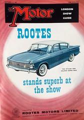 1961 Motor magazine cover Hillman Super Minx (humberama) Tags: classic car illustration vintage magazine 60s retro cover minx motor sixties hillman 1961 rootes superminx