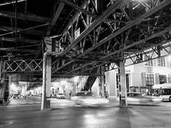 Chicago (pictopix) Tags: chicagojuin2016 mtro cta arien acier steel nuit night car voiture reflet lumire light