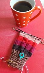 cup of the day (pacific_rin) Tags: cup mug spotty knitting handknitting socks