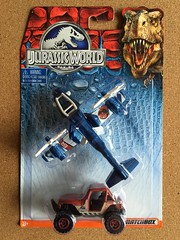 Mattel Matchbox - Jurassic World - Number DFW18 2 Pack - Sky Safari  Plus MBX 4x4 - Miniature Die Cast Metal Model Vehicles (firehouse.ie) Tags: v22 boeing bell bellboeing vta verticaltakeoff osprey promotional filmrelated movierelated movie film universal 2015 amblin model atv vehicle plane 4x4 twinprop aircraft airplanes aeroplane jeep cat toys tous toy models miniature twopack twinpack 2pack park theme dinosaurs jurrasicpark jurrasicworld world jurrasic matchbox mattel