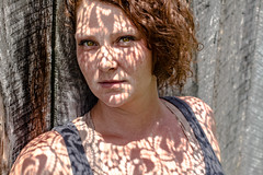 Paisley (tonyajbender) Tags: shadow portrait abstract beautiful artistic sister lace gorgeous creative hazel redhair doily