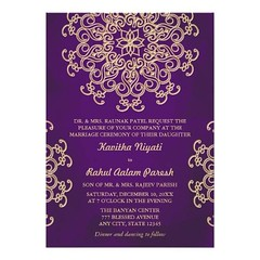 (PURPLE AND GOLD INDIAN STYLE WEDDING INVITATION) #ArabianNightsMoroccanAladdinTheme, #ElegantSophisticatedPrettyStylish, #FloralLotusMedallionUpscale, #FormalFancyDesignerBeautiful, #HinduIndonesianChineseChinaIndia, #IndianEasternAsianEthnicExotic, #Pat (CustomWeddingInvitations) Tags: purple and gold indian style wedding invitation arabiannightsmoroccanaladdintheme elegantsophisticatedprettystylish florallotusmedallionupscale formalfancydesignerbeautiful hinduindonesianchinesechinaindia indianeasternasianethnicexotic patterndesigndecorativesunburst purpleamethystgoldmetallicluxe uniquefemininelacedoilycouture weddingengagementanniversaryparty is available custom unique invitations store httpcustomweddinginvitationsringscakegownsanniversaryreceptionflowersgiftdressesshoesclothingaccessoriesinvitationsbinauralbeatsbrainwaveentrainmentcompurpleandgoldindianstyleweddinginvitation weddinginvitation weddinginvitations