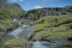 The 1st waterfall (II) (Modesto Vega) Tags: sierradegredos lascincolagunas mountain waterfall snow rock rockformation grass glacialcirque sistemacentral nieve nikon nikond600 d600 fullframe gargantadelpinar gorgeofelpinar lagunadelaescoba