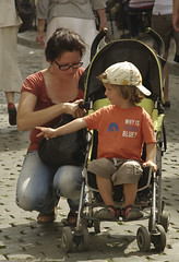 Portrait (Natali Antonovich) Tags: portrait sweetbrussels brussels motherandson motherhood childhood children gesture profile stare grandplace lifestyle