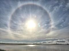 IMG_7232ss (savillent) Tags: tuktoyaktuk northwest territories canada arctic north climate clouds sky sun halo sundog water ocean landscape canon sx700 july summer 2016