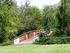 Chelan Falls Park (starmist1) Tags: pedestrianbridge chelanfallspark park grass trees shrubbery greenery landscaping scenic family picnic sports recreation boating swimming