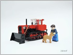 DT-75 (Jakeof_) Tags: tractor lego farm agriculture 75 bulldozer dt crawler moc dt75