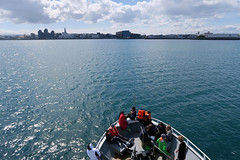 Reykjavik seen from sea (sigfus.sigmundsson) Tags: reykjavik whale watching sea ocean harpa city scape travel iceland