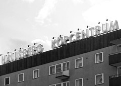 Hallsberg Köpcentrum (Michael Erhardsson) Tags: hallsberg västrastorgatan höghus svartvitt 2015 köpcentrum