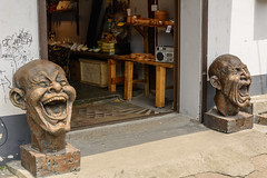 laugh or cry (stevefge (away for a few days)) Tags: china shanghai zhugiaugiau watertown reflectyourworld street