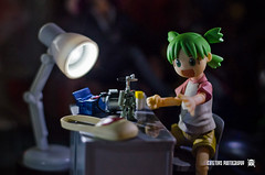 Yotsuba4 (ArchLancer) Tags: yotsuba revoltech animecharacter figure toy nikond7000 workstation cutetoysphotography