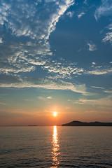 Sunset in Setonaikai (Hiro_A) Tags: setonaikai setouchi sea seaside sunset sun summer cloud sky nikon d7200 sigma 1770mm 1770