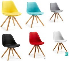 Sedia colorata stile nordico (design italiano) Tags: scandinavo nordico sedia sedie legno plastica