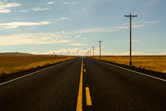 The flame instructs the insurance. (TheRealMichaelMoore) Tags: 2016 kennewick washington clouds farm fields openroad powerlines road wheat yellowline unitedstates