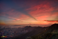 Kowloon Peak  (mikemikecat) Tags: kowloonpeak  kowloon hongkong a7r house mikemikecat sony building colorful carlzeiss sunset dusk   landscape sel2470z cityscapes magicmoment   anticrepuscularrays