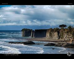 The Steeples (tomraven) Tags: coast coastal cliffs head capefoulwind westcoast newzealand tomraven aravenimage q32016 water cloud sky sun waves coastline pentax k50