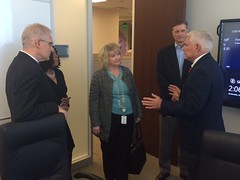 Pete Sessions meeting with a North Texas business