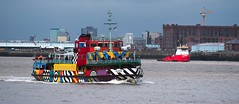 Snowdrop and the Iguazu (frisiabonn) Tags: iguazu dredger ferry mersey river merseyside liverpool birkenhead woodside snowdrop colourful wirral water vessel uk great britain england united kingdom maritime