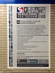 15th st station improvements (BlogKing) Tags: septa rebuilding subwaystation