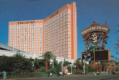 Treasure Island's Spectacular Skull Sign - Las Vegas, NV (hmdavid) Tags: lasvegas hotel casino sign spectacular treasureisland nevada ti pirate 1990s postcard skull marquee mystere