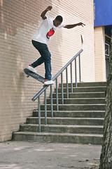 Ishod Wair - B/S Noseblunt (billycox) Tags: ishod wair bs backside nose blunt bsnb slide handrail crackhead dauphin hilly philadelphia skateboarding skater nike sb skating skate spitfire billy cox canon 1d