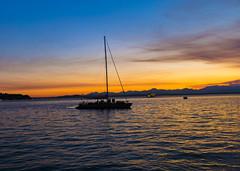 Seattle - Sunset Sailing (NikonD3xuser1(Thanks for 1.6 million visits)) Tags: usa washington seattle sailing boat night dusk sunset sky colors water nikon d810