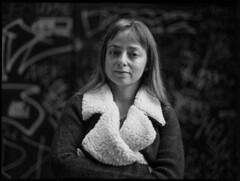 Silvia, inverno 2015 (Kiodo quello vero) Tags: portrait ritratto silvia woman bw bn mamiya 645 80mm 8019 street caffenol