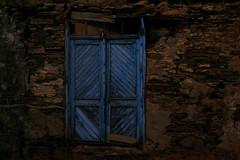 old blue (izelozz) Tags: old door stone wall blue trip turkey türkiye tire