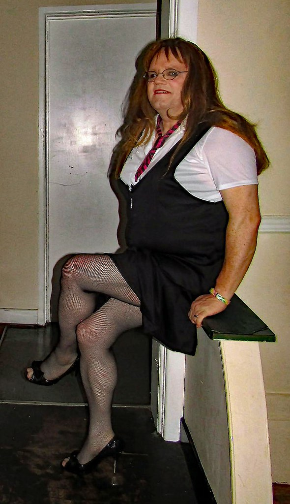 Olaf recommend best of black redhead tranny fishnet in