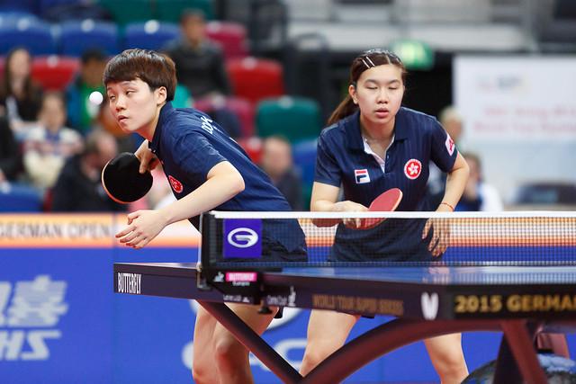 German-Open 2015: Doppel - Lee Ho Ching und Doo Hoi Kem © Holger Straede