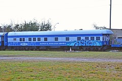 James E. Strates Shows JES No. 21, Florida, Orlando (EC Leatherberry) Tags: railroad carnival florida orangecounty observationcar businesscar jamesestratesshows chesapeakeohiorailroad jamesestrates greekimmigrant
