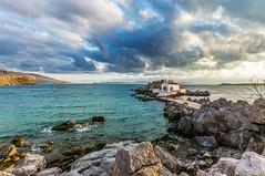 Chios Island (Nejdet Duzen) Tags: trip travel sea nature sunrise rocky chapel greece deniz yunanistan kilise seyahat doa gndoumu kayalk sakzadas chiosisland