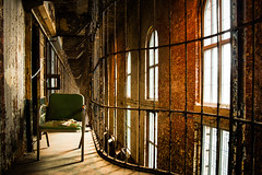 Sitting Watch (corinne.schwarz) Tags: ohio abandoned haunted creepy prison mansfield shawshankredemption abandonedprison
