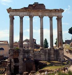Tempio di Saturno (Temple of Saturn) (PhotoHenning) Tags: ruins pillar columns column pillars retouched