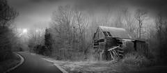 Breezeel School Road Barn_BW (Bob G. Bell) Tags: winter abandoned barn rural kentucky ky fujifilm x30 benton marshallcounty thunderstorn bobbell breezeelschoolroad