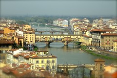VIEW OF PONTE VECCHIO AND ARNO RIVER FROM PIAZZALE MICHEL ANGELO, FLORENCE, ITALY. (SETIANI LEON) Tags: voyage from bridge italy canon river eos florence italian italia view place ange riviere ponte journey tuscany 7d pont and firenze angelo arno michel michelangelo toscane piazzale vu vue italie vecchio michelange of