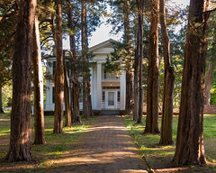 William Faulkner's Rowan Oak (c. 1848), view01, Old Taylor Rd, Oxford, MS, USA (lumierefl) Tags: usa house building home architecture mississippi unitedstates south 19thcentury oxford plantation ms northamerica writer southeast author residential 1840s slaves novelist greekrevival lafayettecounty southerncolonial