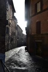 Siena morning (Olga Sytykh) Tags: street morning italien italy italia via tuscany siena toscana  toskana sienaitaly   freephotos   nikond3100