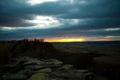 Hadrians Wall (sparksy2k14) Tags: sunset orange clouds landscape scotland nikon hadrianswall d3
