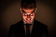 Face of the Devil (xmairephoto) Tags: portrait flash dmon effrayant rolandhaller